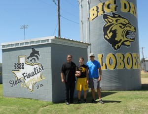 Cisco Loboes Kicker Zack Wilks with Dad and Coach Brent